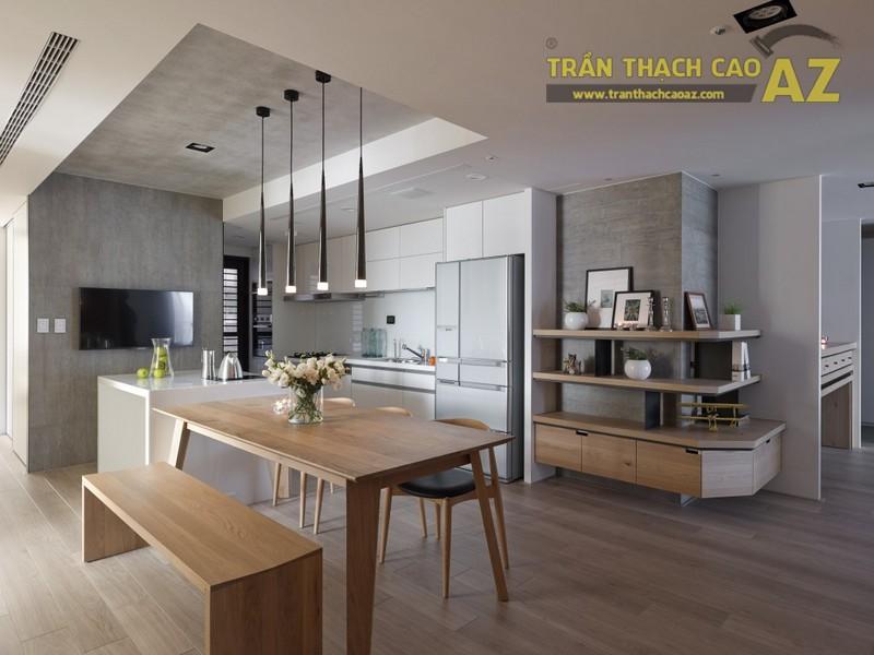 Mẫu trần thạch cao cho phòng bếp đẹp nhất năm 2017