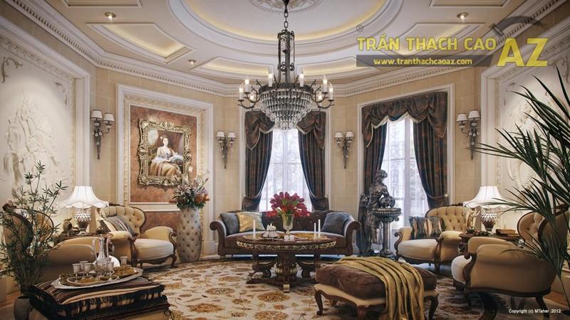 Mẫu trần thạch cao phòng khách đẹp nhất 2017 - 02