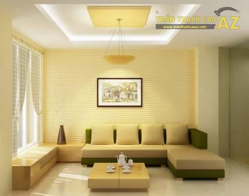 Trần thạch cao trang trí phòng khách
