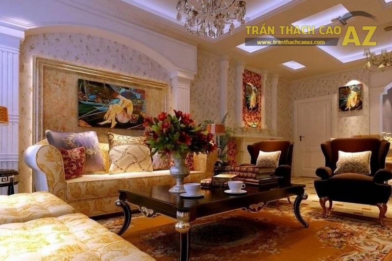 Bí quyết làm đẹp phòng khách biệt thự với trần thạch cao - 02
