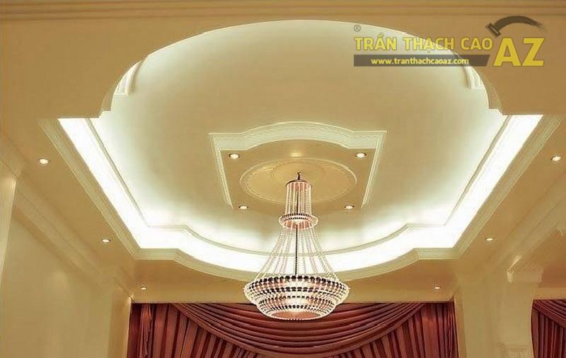 Đèn led làm nổi bật vẻ đẹp sang trọng cho trần thạch cao