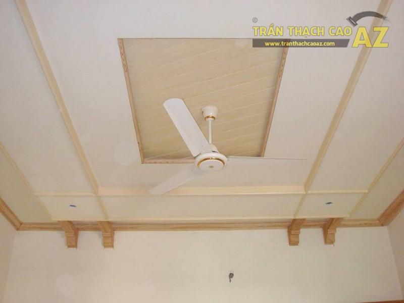 Trần thạch cao kết hợp quạt trần - xu hướng mới cho phòng khách