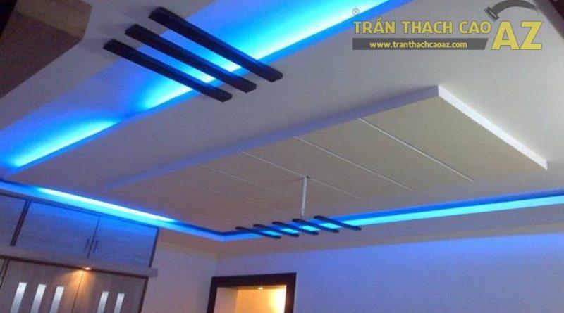Đèn led dây hắt sáng giúp trần thạch cao thêm nổi bật