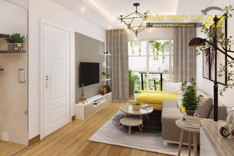 Thiết kế trần giật cấp khéo léo cho nhà nhỏ
