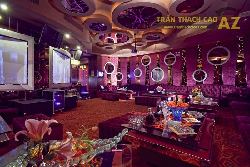 Mẫu trần thạch cao phòng karaoke 2017 cho bạn tham khảo