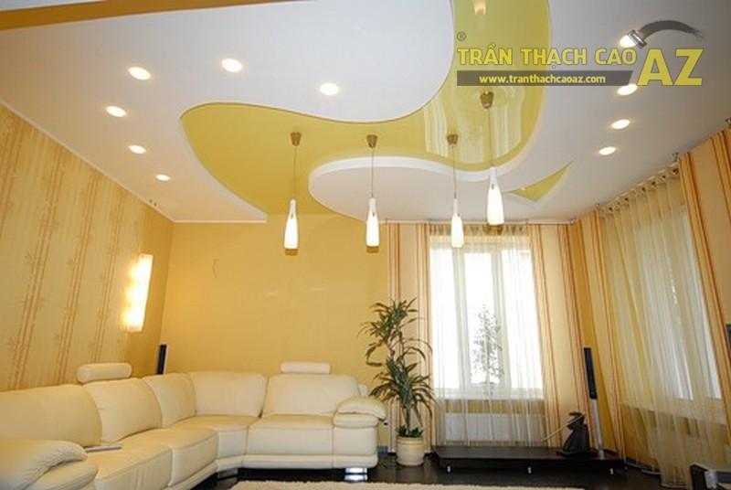 Gam màu sáng được chuộng trong các thiết kế trần phòng khách 2017