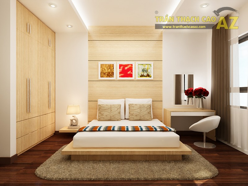 Mẫu trần thạch cao cho phòng ngủ vợ chồng đẹp nhất 2017