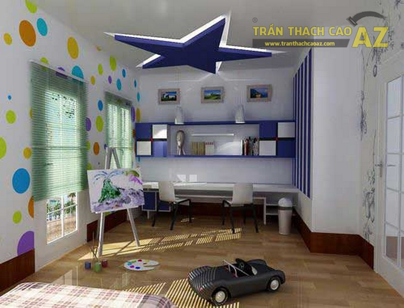 Không gian sống trong lành và an toàn với trần thạch cao phòng trẻ em