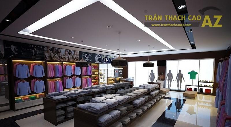 Trần thạch cao Shop thời trang khởi tạo không gian sang trọng, lịch sự