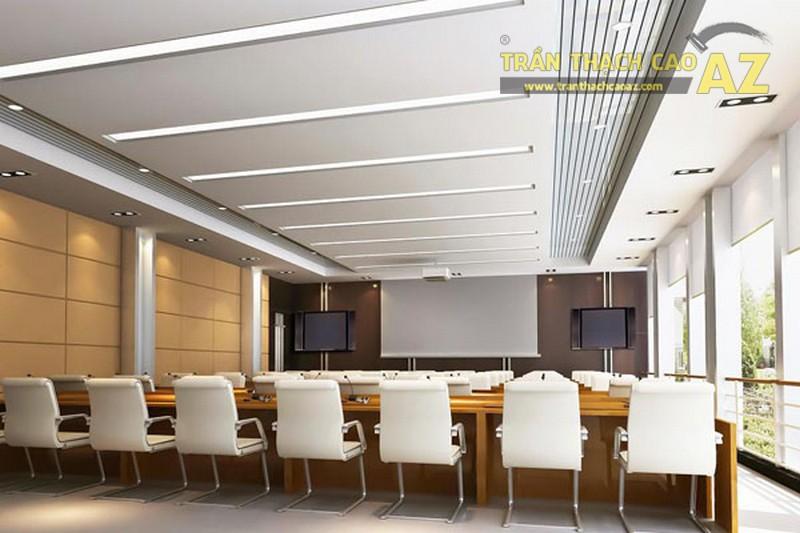 Sử dụng hệ thống chiếu sáng thông minh ở trần văn phòng hợp phong thủy
