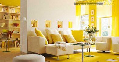 Nghệ thuật phân chia không gian trong phòng khách với vách ngăn thạch cao