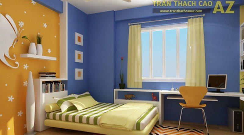 Đẹp không ngờ khi phòng ngủ được trang trí bằng vách thạch cao mẫu 2017