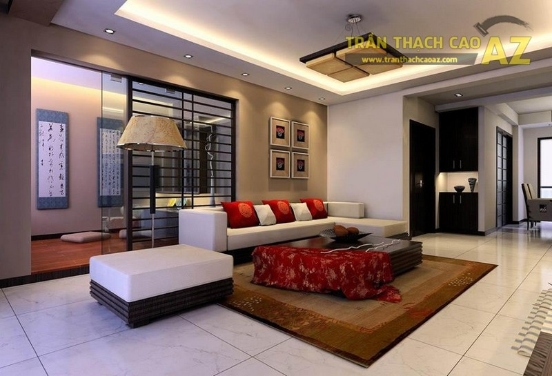 16 mẫu trần thạch cao phòng khách đẹp nhất mọi thời đại - 01
