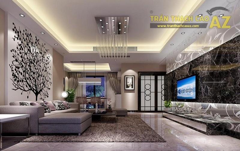 16 mẫu trần thạch cao phòng khách đẹp nhất mọi thời đại - 03