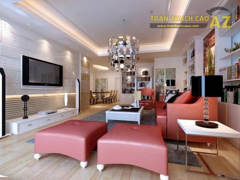 16 mẫu trần thạch cao phòng khách đẹp nhất mọi thời đại - 06