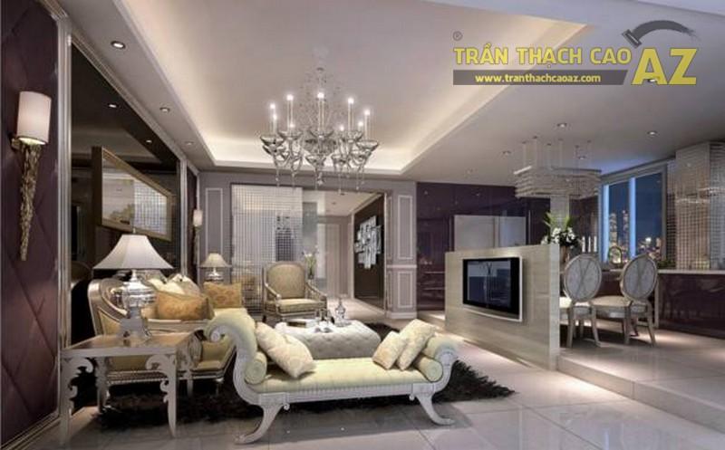 16 mẫu trần thạch cao phòng khách đẹp nhất mọi thời đại - 07