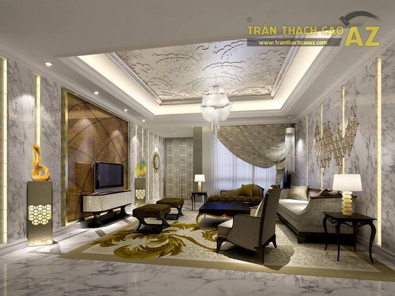 16 mẫu trần thạch cao phòng khách đẹp nhất mọi thời đại - 08