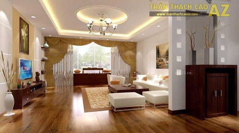 16 mẫu trần thạch cao phòng khách đẹp nhất mọi thời đại - 12