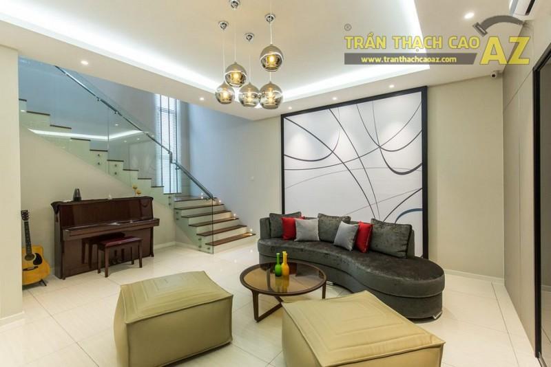 10 hình ảnh trần thạch cao phòng khách đẹp 2017 - 01