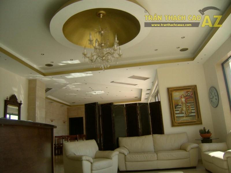 10 hình ảnh trần thạch cao phòng khách đẹp 2017 - 02
