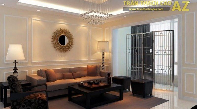 10+ mẫu trần thạch cao phòng khách nhà ống đẹp lung linh - 11