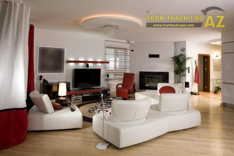 Mẫu trần thạch cao phòng khách 2017 của đơn vị trần thạch cao AZ