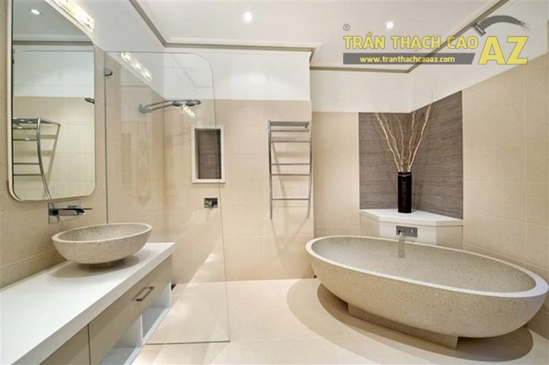 """Mẫu trần thạch cao phòng tắm 2017 """"đẹp ngỡ ngàng"""""""
