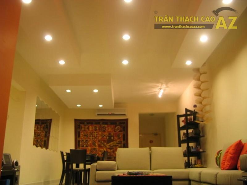 10+ mẫu trần thạch cao phòng khách nhà ống đẹp lung linh - 05