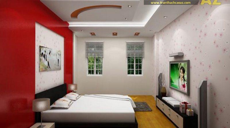 Làm trần thạch cao cho phòng ngủ nhỏ trở nên sang trọng