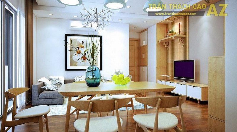 Mẫu trần thạch cao phòng khách cho chung cư năm 2017
