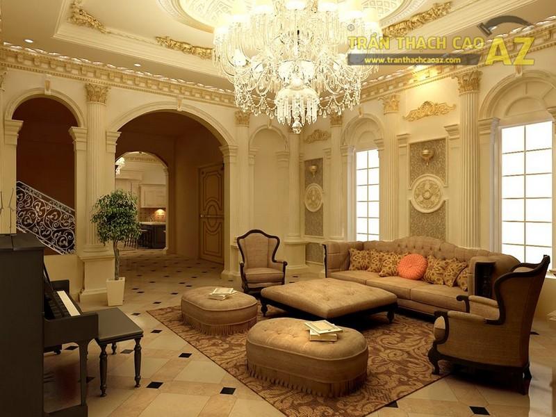 Trần thạch cao biệt thự đẹp phải được tạo nên từ những vật tư chất lượng