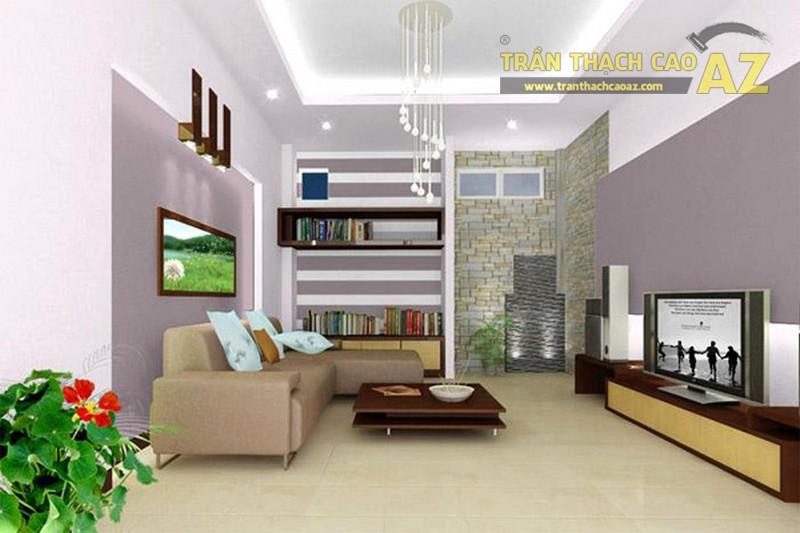10+ mẫu trần thạch cao phòng khách nhà ống đẹp lung linh - 07