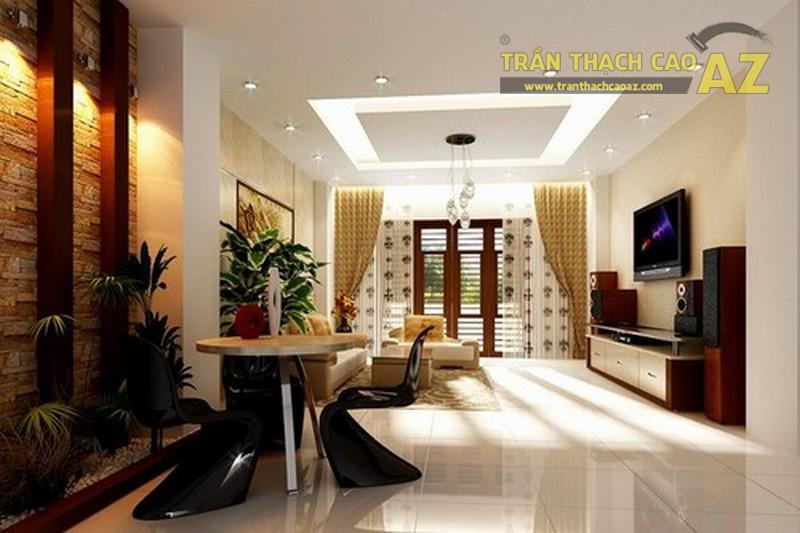 10+ mẫu trần thạch cao phòng khách nhà ống đẹp lung linh - 08