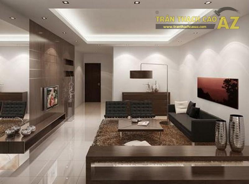 10+ mẫu trần thạch cao phòng khách nhà ống đẹp lung linh - 02