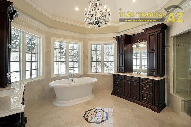 Làm trần thạch cao nhà tắm để tận hưởng không gian thư giãn sang trọng