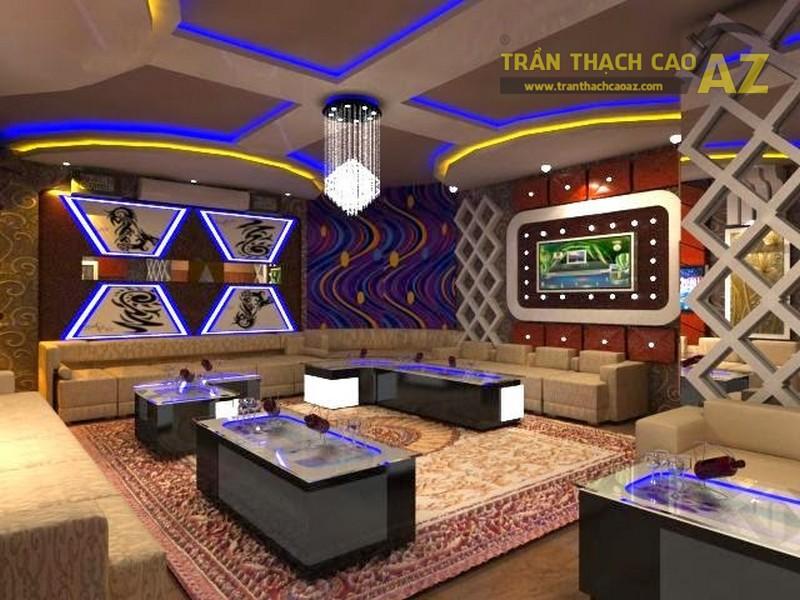 Mẫu trần thạch cao quán Karaoke của đơn vị AZ thiết kế, thi công