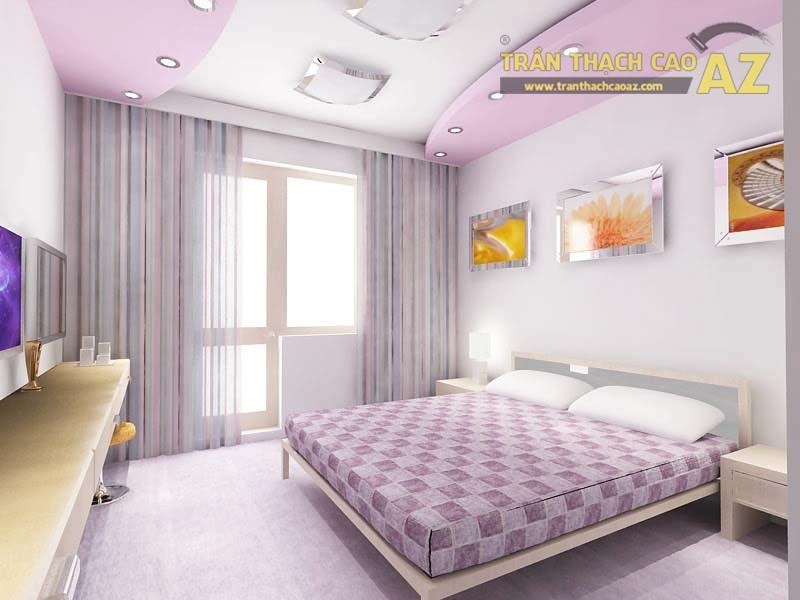 Làm trần thạch cao đẹp cho phòng ngủ nhỏ