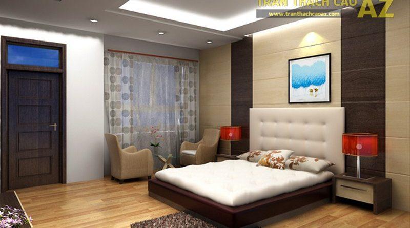 Những mẫu trần đơn giản luôn phù hợp nhất với phòng ngủ nhỏ