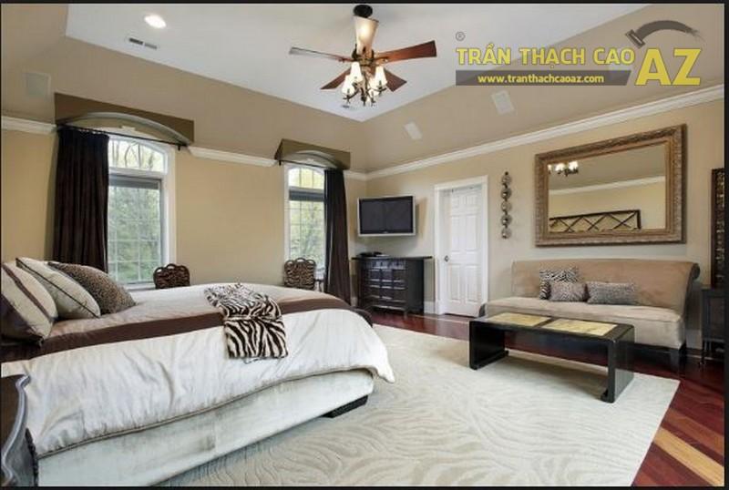 10 mẫu trần thạch cao đơn giản cho phòng ngủ đẹp lung linh