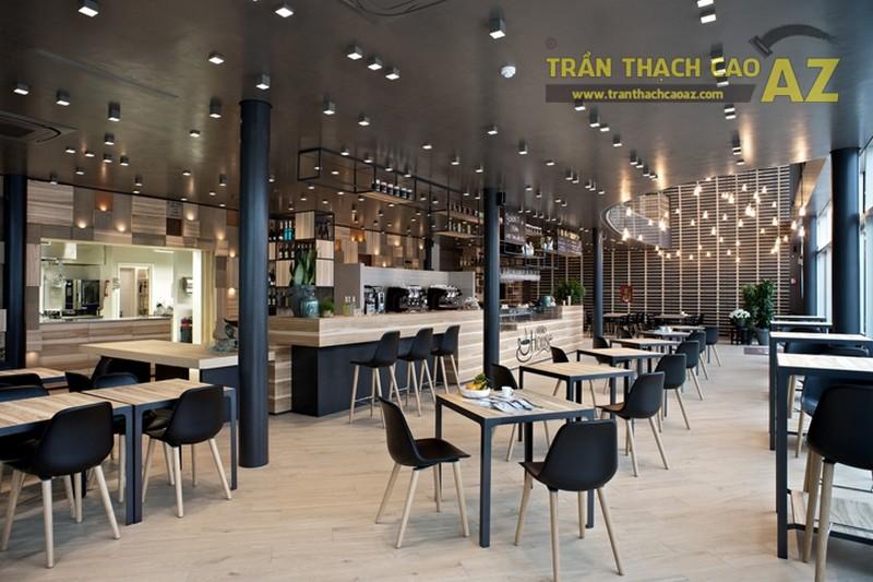 10 mẫu trần thạch cao đơn giản cho quán cà phê đẹp độc