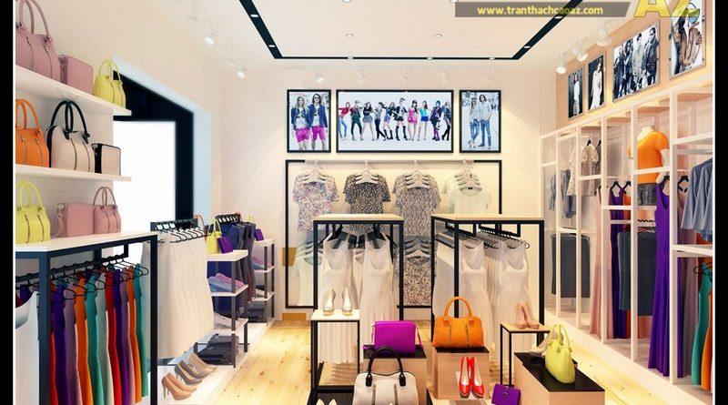 Mẫu trần thạch cao cho shop, showroom thời trang