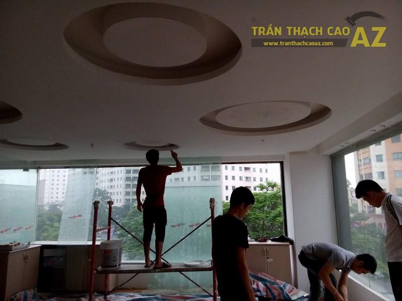Thi công trần thạch cao cho văn phòng công ty anh Mạnh, Cầu Giấy, Hà Nội