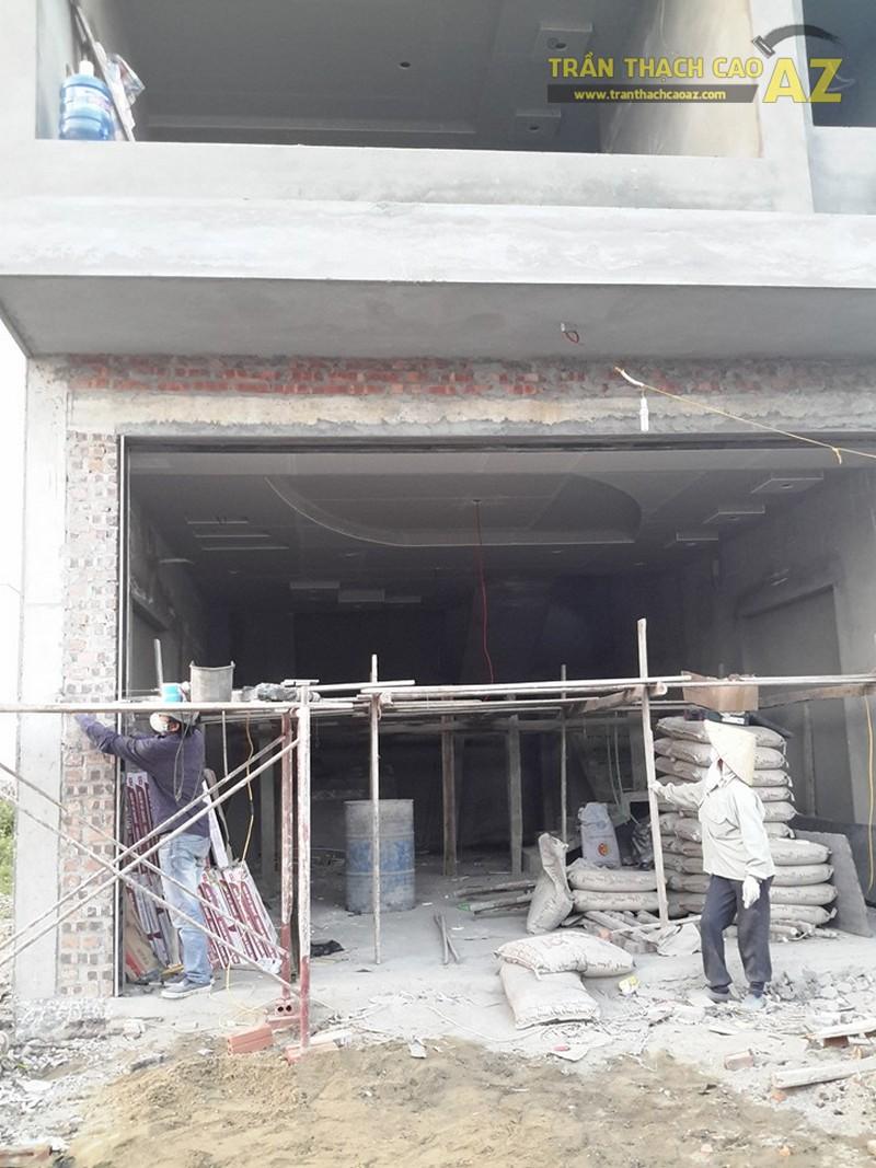 Thi công trần thạch cao nhà chú Hải ở Gia Lâm, Hà Nội