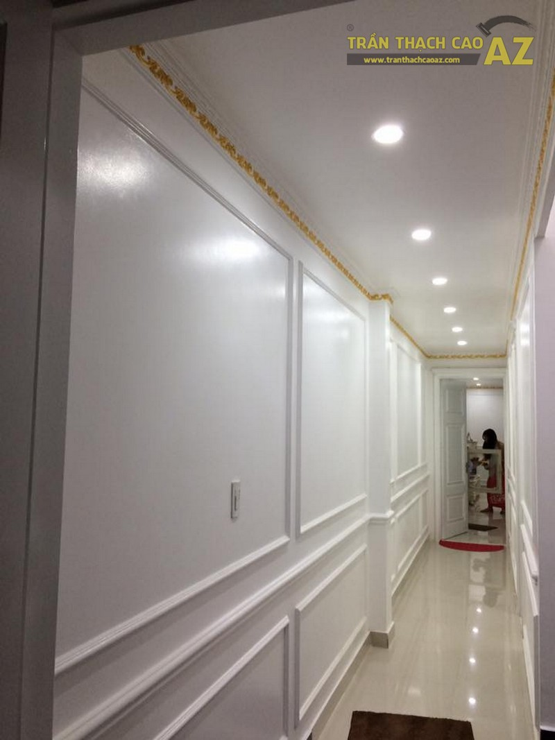 Hoàn thiện trần thạch cao nhà ống cho nhà anh Hoàng, Long Biên, Hà Nội