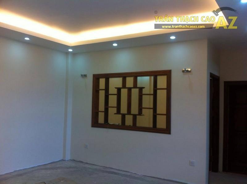 Thi công trần thạch cao cho nhà anh Quân ở Đống Đa, Hà Nội