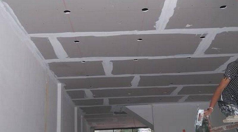 Thi công trần thạch cao nhà phố nhà anh Thành, Cầu giấy, Hà Nội - 05
