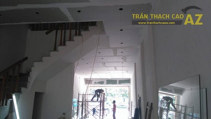 Thi công trần thạch cao nhà phố nhà anh Thành, Cầu giấy, Hà Nội - 04