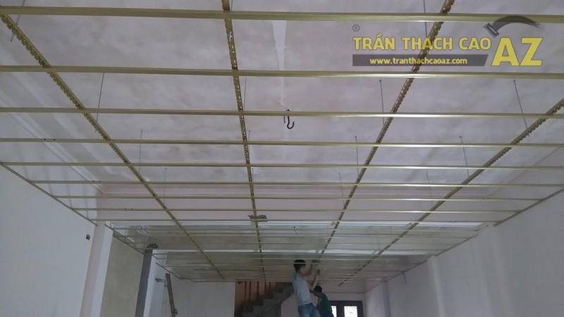 Thi công trần thạch cao nhà phố nhà anh Thành, Cầu giấy, Hà Nội - 01