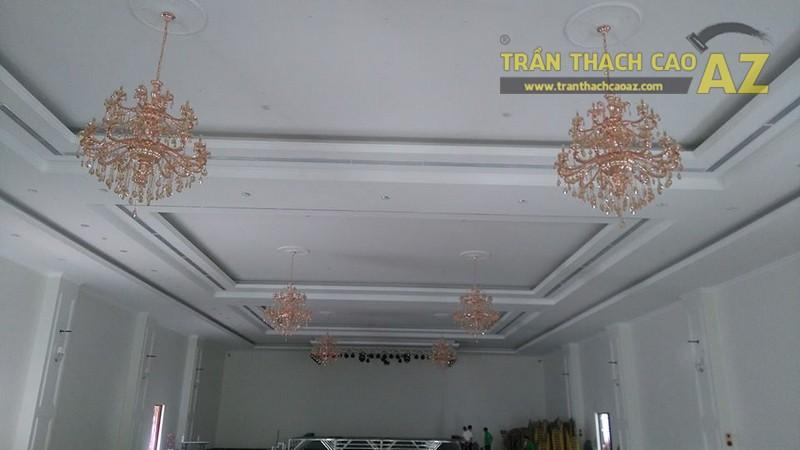 Thi công trần thạch cao cho trung tâm tiệc cưới của anh Hậu, Hà Đông, Hà Nội - 06