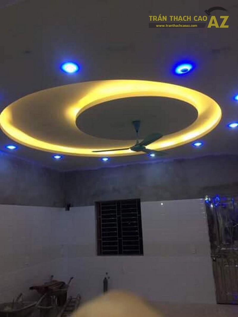Thi công trần thạch cao phòng bếp cho nhà anh Thứ, Long Biên, Hà Nội